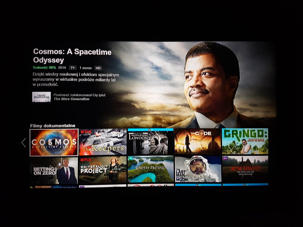 Netflix na PS4 - Filmy dokumentalne