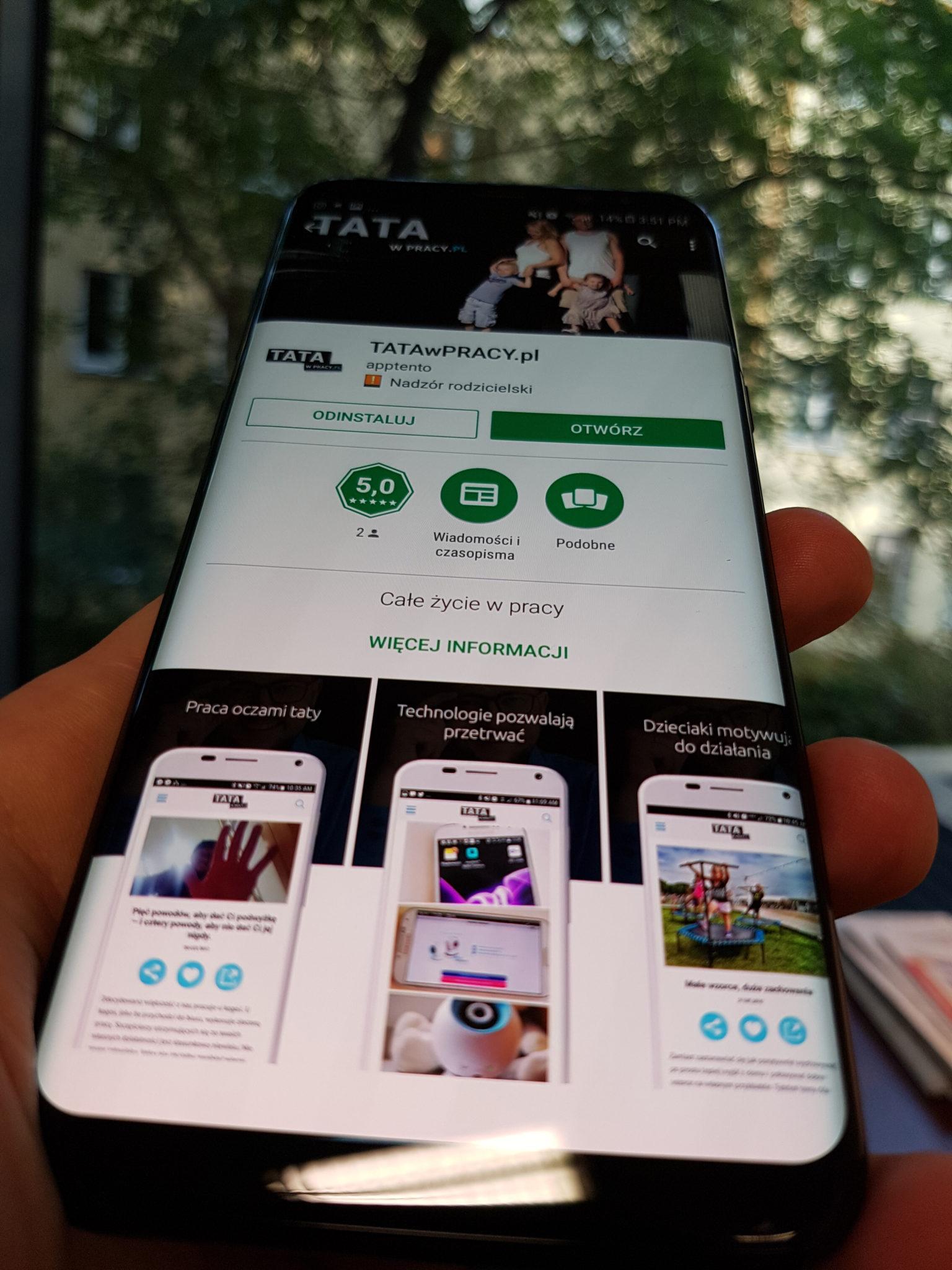Aplikacja blogerska w Google Play
