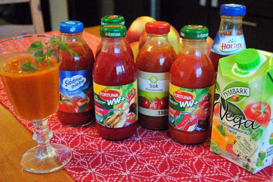 Trzydniowy melanż soków pomidorowo-warzywnych