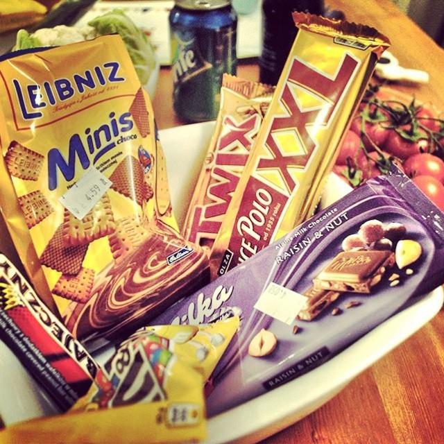 Słodycze, Milka Snickersy i inne Twixy