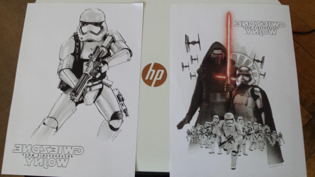 Wydruki z drukarki, Star Wars