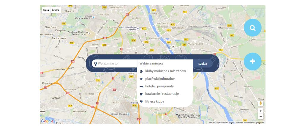 Mapa Fajnych Miejsc dla rodziców i rodzin. Sprawdź to co inni już zdążyli przetestować, pochwal się tym co przetestowałeś :)