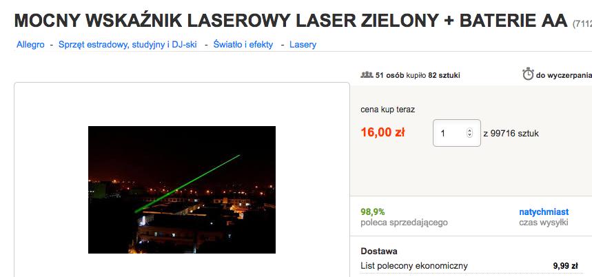 Laser to nie zabawka